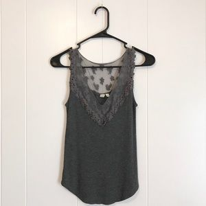 Anthropologie • Eloise Gray Embroidered Lace Tank